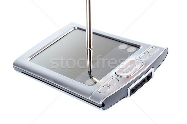 Stylus képernyő pda felfüggesztett kapcsolat számítógép Stock fotó © broker