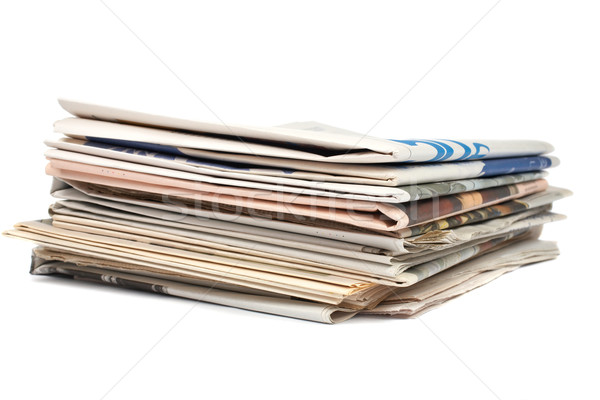 Stack of local newspapers Stock photo © broker
