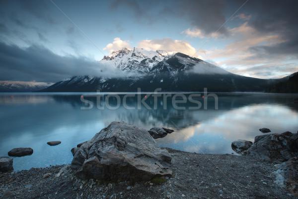 Lago parque montana vacaciones reflexión paisaje Foto stock © broker