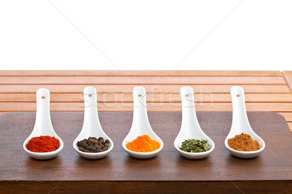 Temperos colheres saboroso comida macio Foto stock © broker