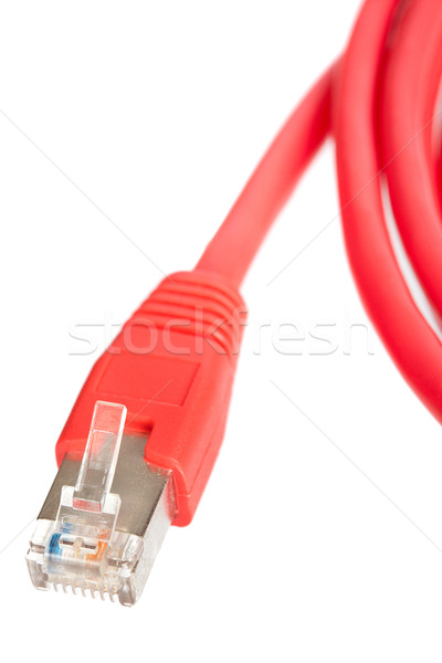 Rosso rete cavo ombra bianco poco profondo Foto d'archivio © broker