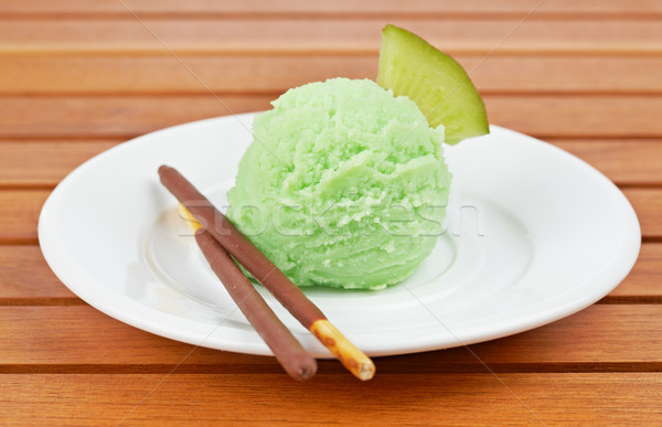 Kiwi ice cream Stock photo © broker