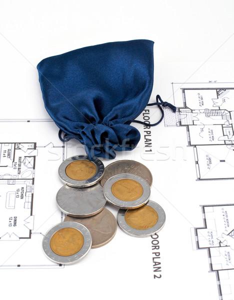 Ceny domu plan drzwi spadek inżynier Zdjęcia stock © broker