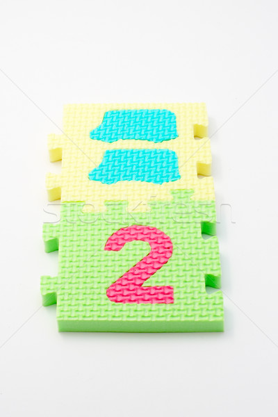 Number two puzzle mats. Focus on the front (small DOF) Stock photo © broker