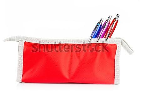 Pencil case and scissors Stock photo © broker