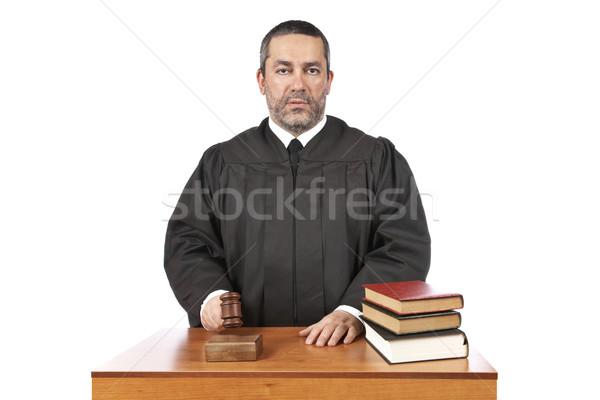 Vonnis mannelijke rechter hamer man Stockfoto © broker