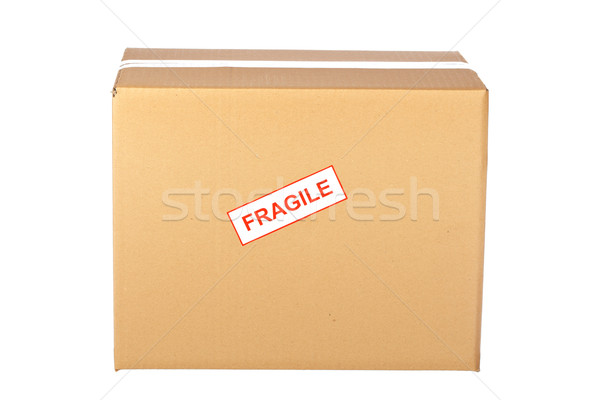 Fragile on cardboard box Stock photo © broker