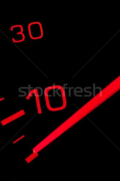 Velocímetro naranja neón negro tecnología coches Foto stock © broker