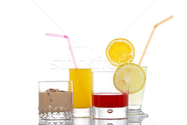 óculos bebidas conjunto vidro fundo relaxar Foto stock © broker