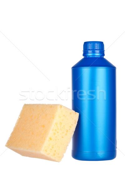 Detergent bottle and sponge Stock photo © broker