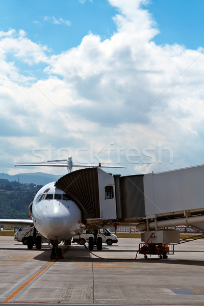 Boarding an airplane  Stock photo © broker