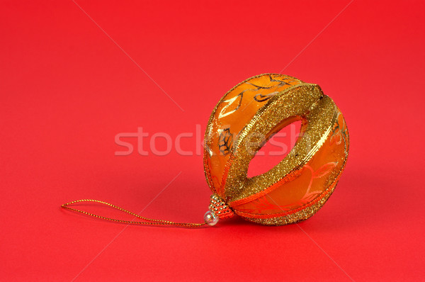 One yellow Christmas ball Stock photo © broker