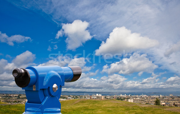 Coin telescope on Edinburgh Stock photo © broker