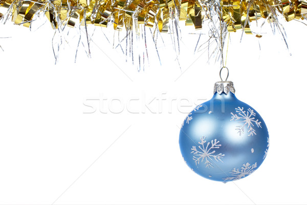 One blue Christmas ball dangling Stock photo © broker