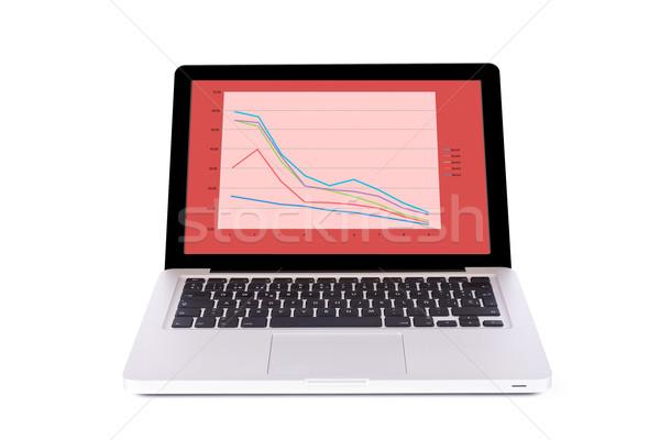 Pénzügyi csattanás modern elegáns laptop számítógép üzlet Stock fotó © broker