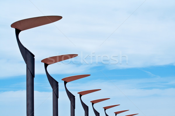 Lampposts on the blue sky Stock photo © broker