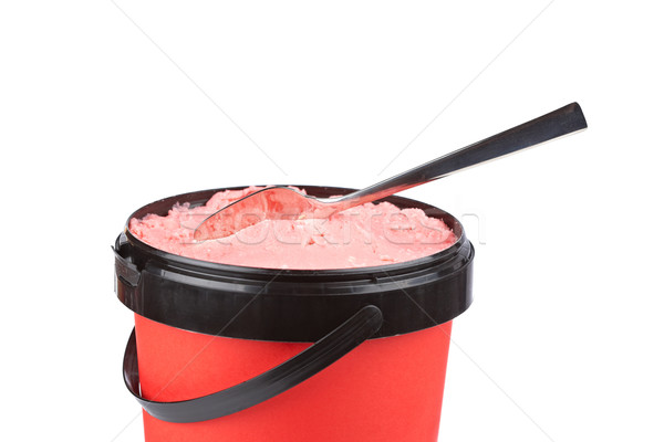 Delicious strawberry ice cream Stock photo © broker