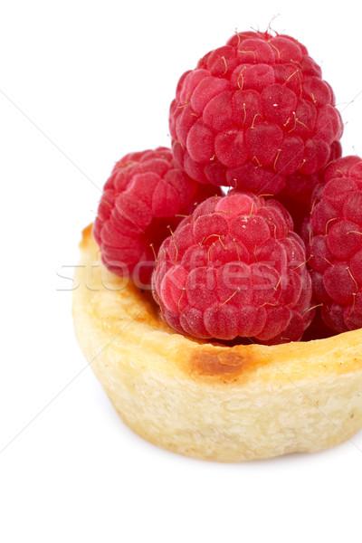 Delicious raspberry cake Stock photo © broker