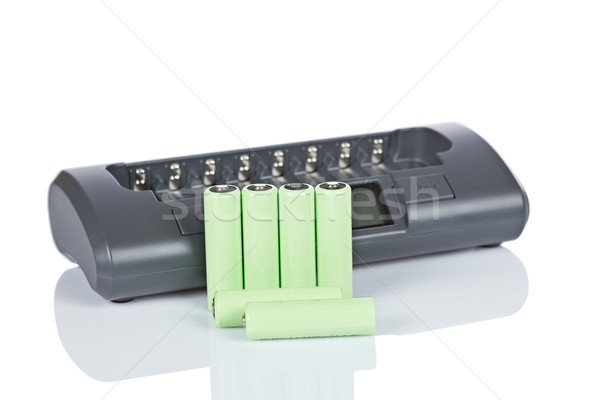 Rechargeable batteries and charger Stock photo © broker
