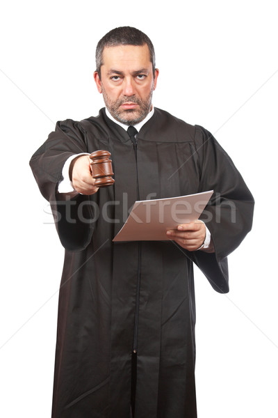 Serious male judge Stock photo © broker