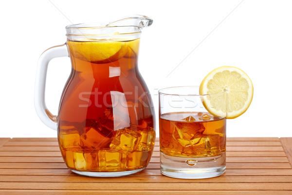 Chá gelado limão raso verão chá Foto stock © broker