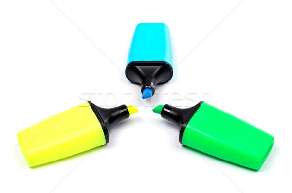 Three coloured labellers Stock photo © broker