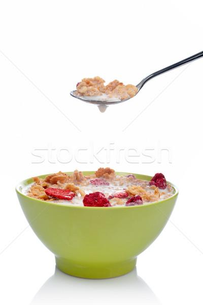 Cornflakes on the spoon Stock photo © broker