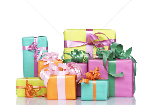 Assortment of gift boxes Stock photo © broker