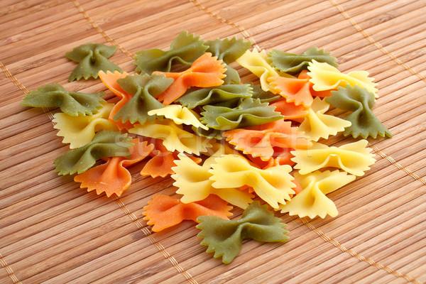Macarrão textura fundo alimentação cozinhar amarrar Foto stock © broker