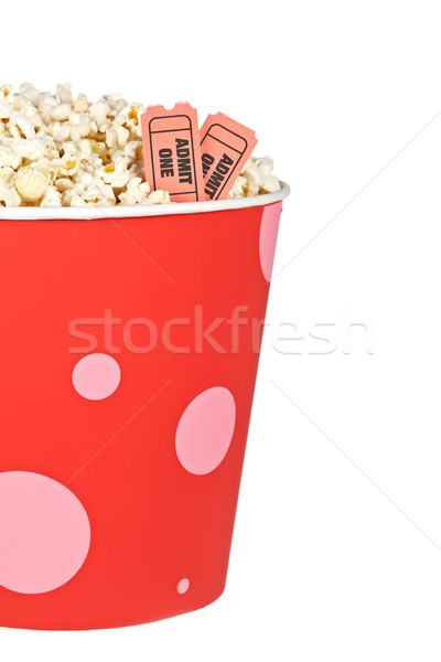 Detail of tickets and popcorn Stock photo © broker