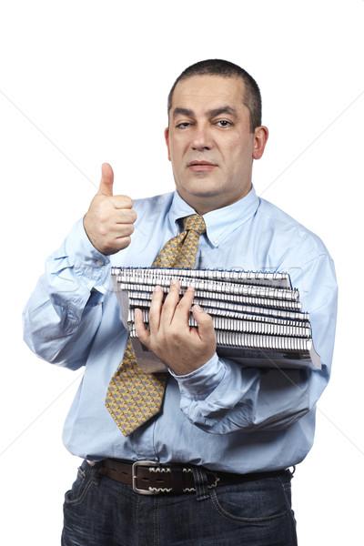 Ocupado hombre de negocios archivos blanco Foto stock © broker