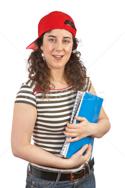 Young student woman with red cap Stock photo © broker
