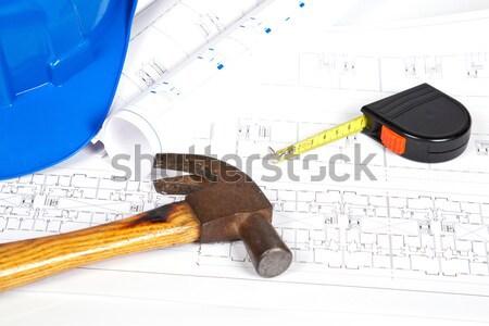чертежи инструменты строительство планов мелкий Сток-фото © broker