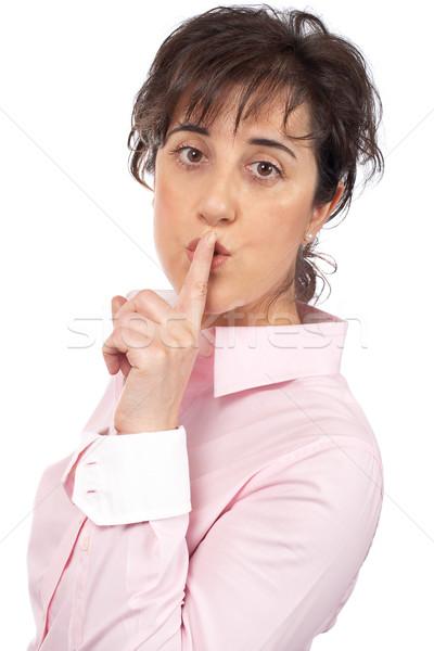 Silence please Stock photo © broker