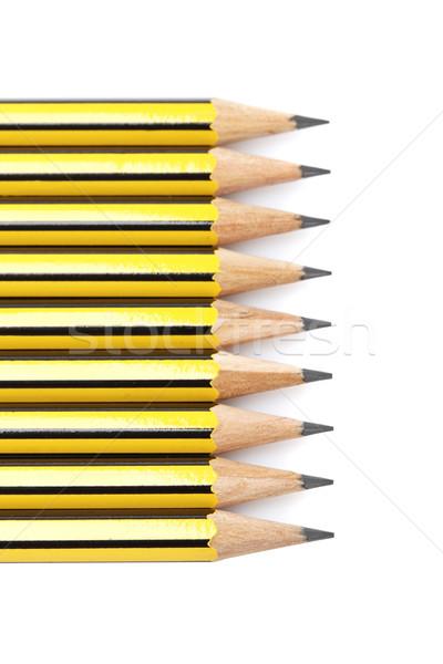 Válogatás ceruzák puha árnyék fehér sekély Stock fotó © broker