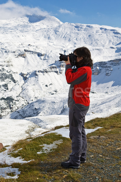 Woman photographer Stock photo © broker