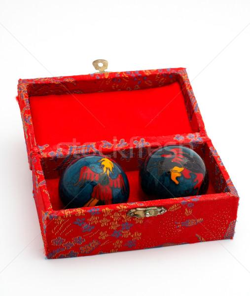 Cinese rosso finestra massaggio Foto d'archivio © broker
