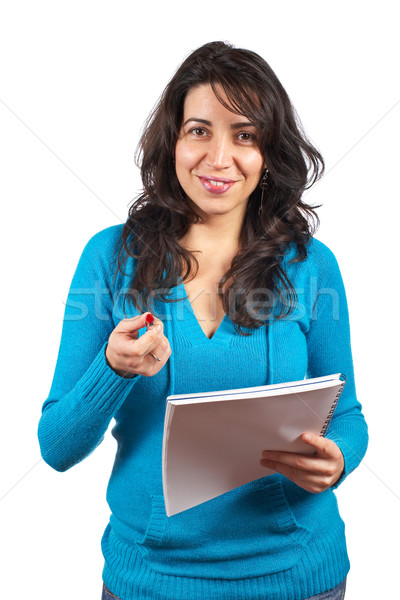 Stock photo: Young student woman