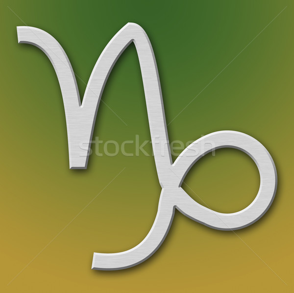 Capricorn Aluminum Symbol Stock photo © broker