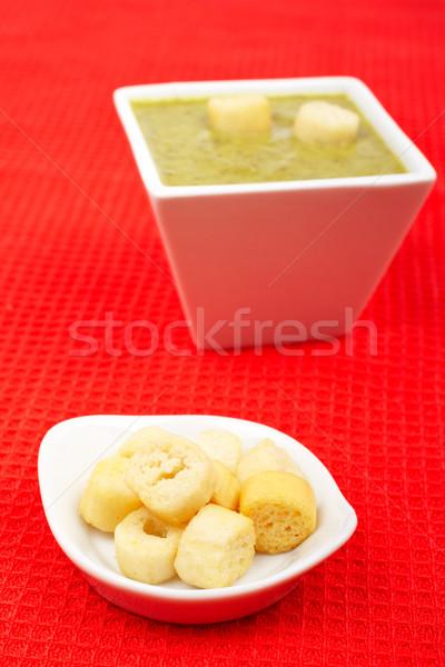 Pan espinacas rojo superficial cena Foto stock © broker