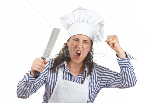Holding a meat cleaver Stock photo © broker