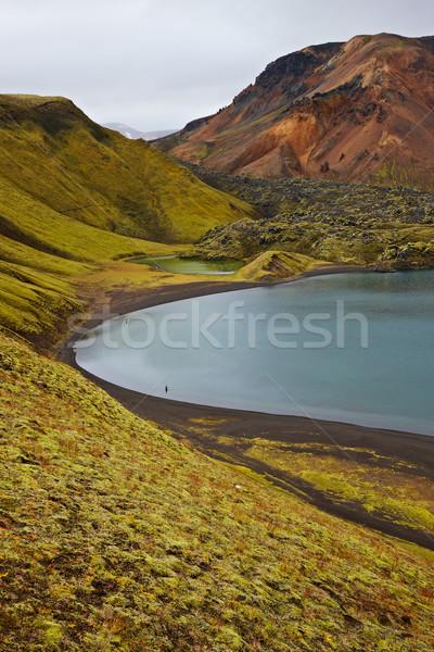 Crater lake in Landmannalaugar, Iceland Stock photo © broker
