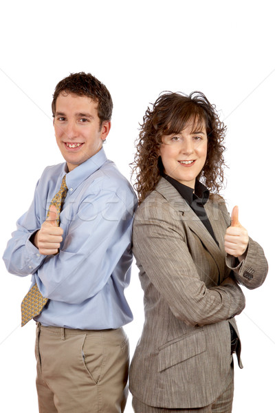 Businessman and businesswoman Stock photo © broker