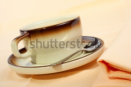 Close-up of a cup of coffee with the spoon Stock photo © broker
