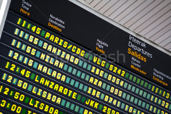 Departures board at airport Stock photo © broker