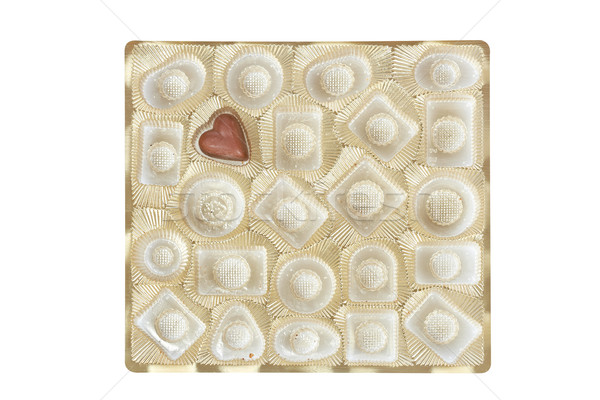 Chocolate candie in a gold box isolated Stock photo © broker