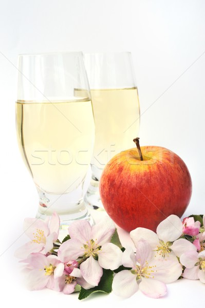 Elma şarabı elma çiçek meyve ağaçlar güzellik Stok fotoğraf © brozova
