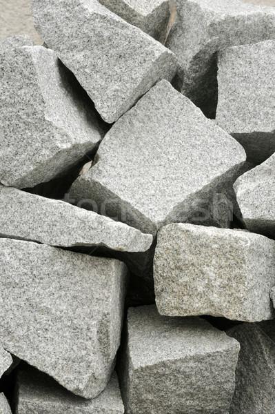 Gray cobblestones - granite Stock photo © brozova