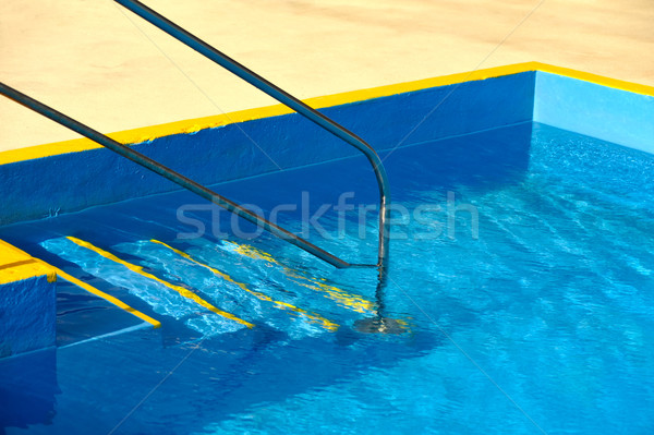 Steps into a swimming pool - detail Stock photo © brozova