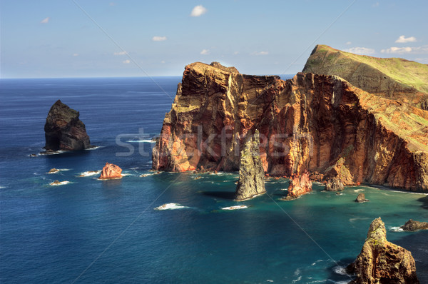 Part Madeira sziget tájkép tenger óceán Stock fotó © brozova